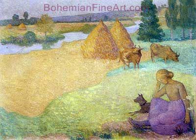 Aristride Maillol, Girl Tending Cows Fine Art Reproduction Oil Painting