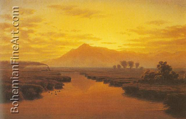 William Marple, Mount Tamalpais from Napa Slough Fine Art Reproduction Oil Painting