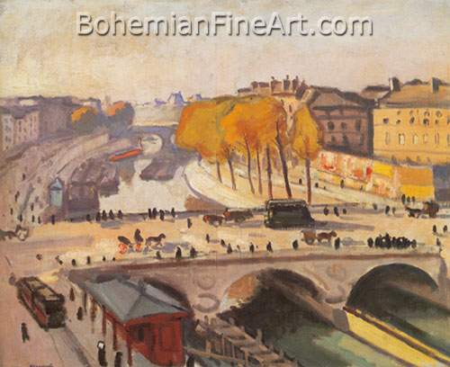 Albert Marquet, Le Pont Saint-Michel et le Quai des Grands August Fine Art Reproduction Oil Painting