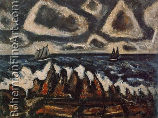 Marsden Hartley, Northern Seacape+ Off the Banks Fine Art Reproduction Oil Painting