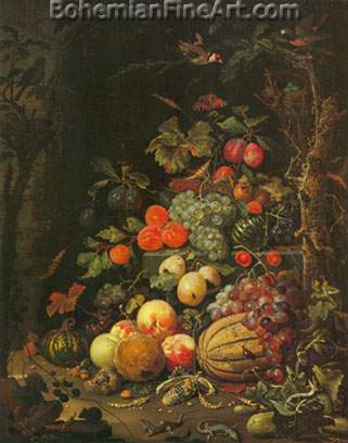 Abraham Mignon, Still Life Fine Art Reproduction Oil Painting