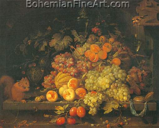 Abraham Mignon, Fruit Still Life Fine Art Reproduction Oil Painting