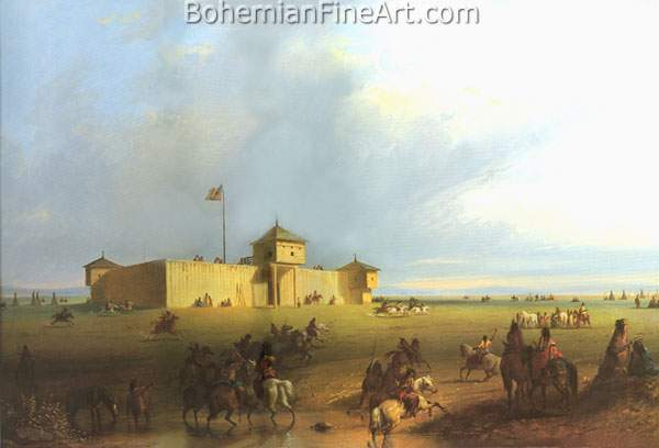 Alfred Miller, Fort Laramie Fine Art Reproduction Oil Painting