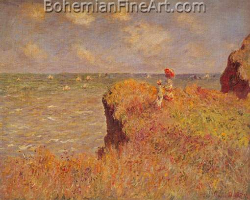 Claude Monet, The Cliff Walk Fine Art Reproduction Oil Painting
