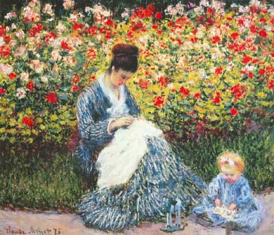 Claude Monet, Madame Monet and Child Fine Art Reproduction Oil Painting