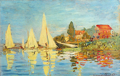 Claude Monet, Regatta at Argenteuil Fine Art Reproduction Oil Painting