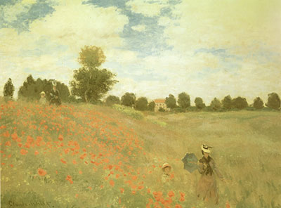 Claude Monet, Poppies at Argenteuil Fine Art Reproduction Oil Painting