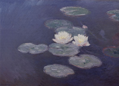 Claude Monet, Water Lilies, Evening Effect Fine Art Reproduction Oil Painting