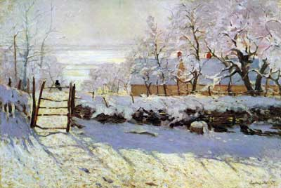 Claude Monet, The Magpie Fine Art Reproduction Oil Painting