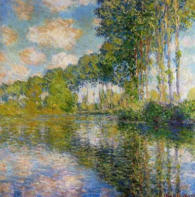 Claude Monet, Poplars on the River Epte Fine Art Reproduction Oil Painting