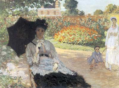 Claude Monet, Camille in the Garden with Jean and his Nurse Fine Art Reproduction Oil Painting
