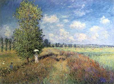 Claude Monet, Summer, Field of Poppies Fine Art Reproduction Oil Painting