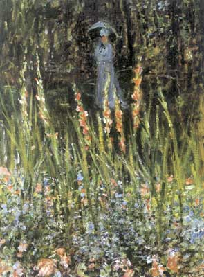 Claude Monet, The Garden, Gladioli Fine Art Reproduction Oil Painting