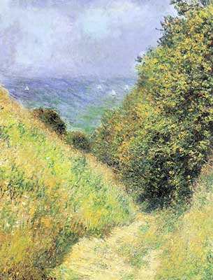 Claude Monet, Chemin de la Cavee at Pourville Fine Art Reproduction Oil Painting