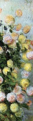 Claude Monet, Dahlias Fine Art Reproduction Oil Painting