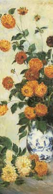 Claude Monet, Dahlias 2 Fine Art Reproduction Oil Painting