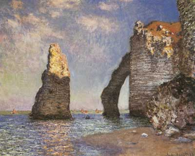Claude Monet, The Needle+ Etretat Fine Art Reproduction Oil Painting