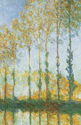 Claude Monet, Poplars, White and Yellow Effect Fine Art Reproduction Oil Painting