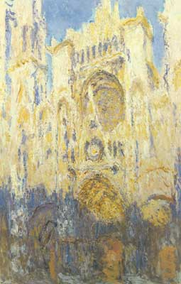 Claude Monet, Rouen Cathedral+ Facade+ (Sunset) Fine Art Reproduction Oil Painting