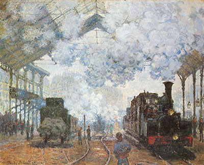 Claude Monet, Gare Saint-Lazare Fine Art Reproduction Oil Painting