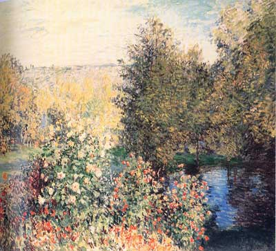 Claude Monet, Corner of the Garden at Montgeron Fine Art Reproduction Oil Painting