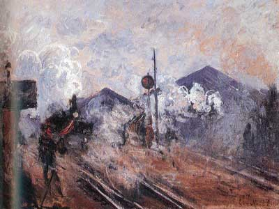 Claude Monet, The Railway at the Exit of Sant-Lazare Station Fine Art Reproduction Oil Painting