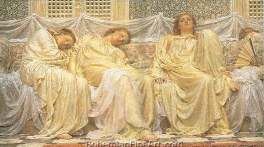 Albert Moore, Dreamers Fine Art Reproduction Oil Painting