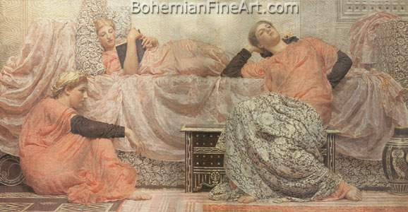 Albert Moore, Reading Aloud Fine Art Reproduction Oil Painting