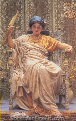 Albert Moore, A Revery Fine Art Reproduction Oil Painting
