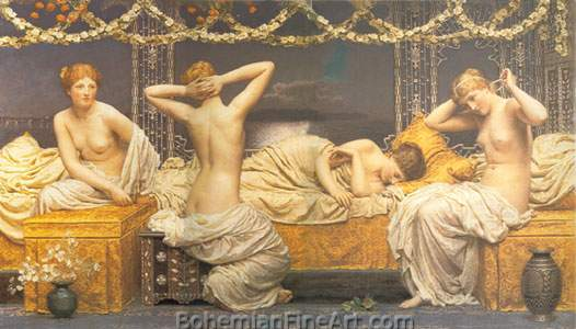 Albert Moore, Summer Night Fine Art Reproduction Oil Painting