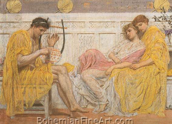 Albert Moore, A Musician Fine Art Reproduction Oil Painting