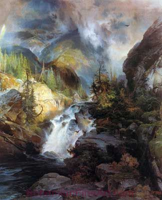 Thomas Moran, Children of the Mountain Fine Art Reproduction Oil Painting