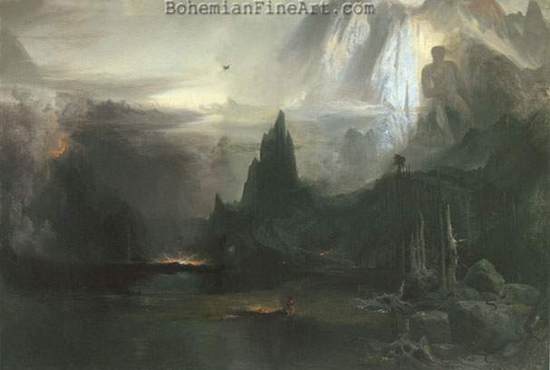 Thomas Moran, The Spirit of the Indian Fine Art Reproduction Oil Painting