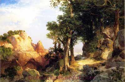 Thomas Moran, On the Berry Trail - Grand Canyon of Arizona Fine Art Reproduction Oil Painting