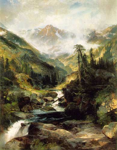 Thomas Moran, Mountain of the Holy Cross Fine Art Reproduction Oil Painting