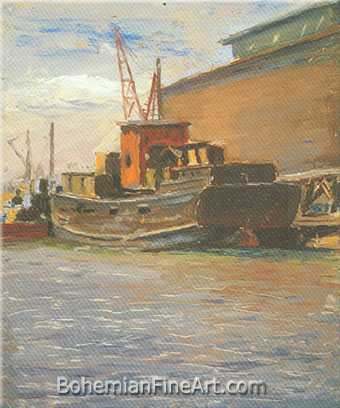James Needham, Tugboat Fine Art Reproduction Oil Painting