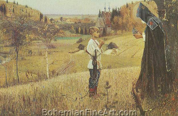 Mikhail Nestorov, The Vision of the Boy Bartholomew Fine Art Reproduction Oil Painting