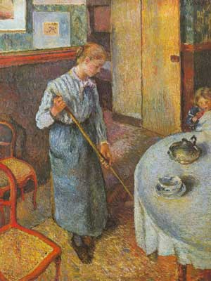 Camille Pissarro, The Little Country Maid Fine Art Reproduction Oil Painting