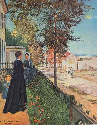 Camille Pissarro, Louveciennes, The Road to Versialles Fine Art Reproduction Oil Painting