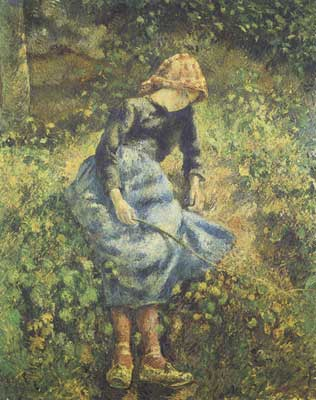 Camille Pissarro, The Shepherdess Fine Art Reproduction Oil Painting