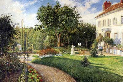 Camille Pissarro, The Garden of Les Mathurins at Pontoise Fine Art Reproduction Oil Painting