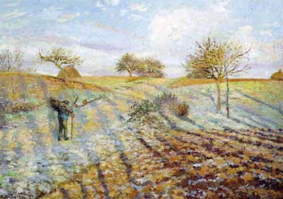 Camille Pissarro, Hoar Frost Fine Art Reproduction Oil Painting