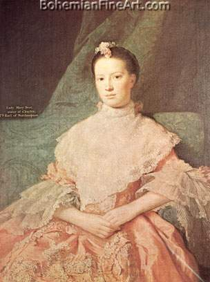 Allan Ramsay, Lady Mary Scott Fine Art Reproduction Oil Painting