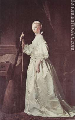 Allan Ramsay, Lady Mary Coke Fine Art Reproduction Oil Painting