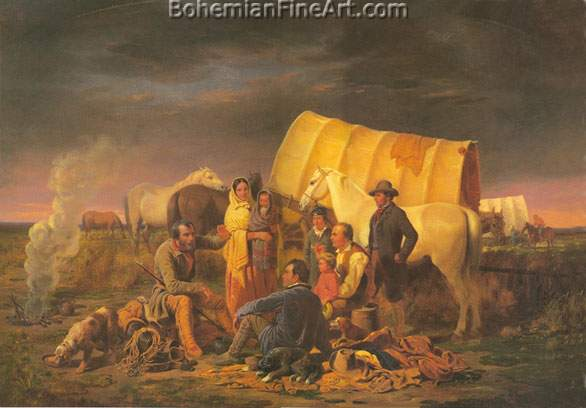 William Ranney, Advice on the Prairie Fine Art Reproduction Oil Painting