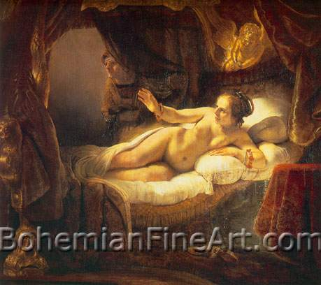 Harmenszoon Rembrandt, Danae Fine Art Reproduction Oil Painting