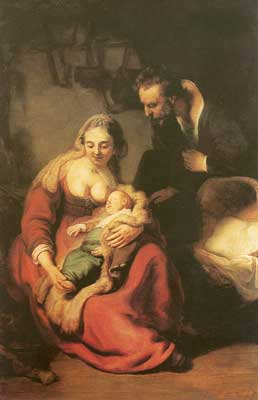 Harmenszoon Rembrandt, Holy Family Fine Art Reproduction Oil Painting