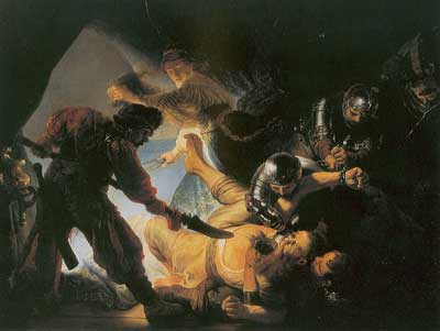 Harmenszoon Rembrandt, The Blinding of Samson Fine Art Reproduction Oil Painting