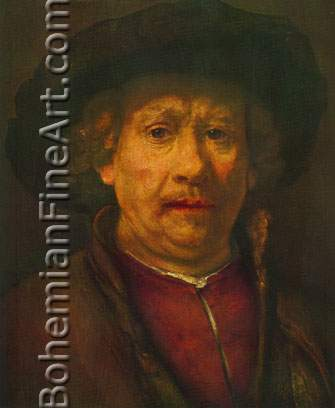 Harmenszoon Rembrandt, Self-Portrait Fine Art Reproduction Oil Painting