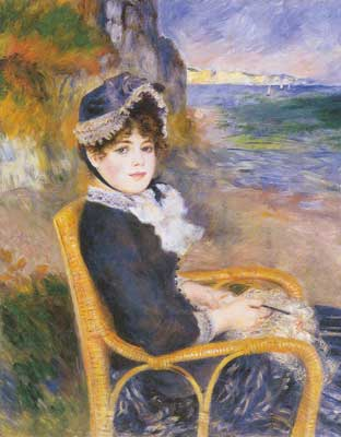 Pierre August Renoir, By the Seashore Fine Art Reproduction Oil Painting